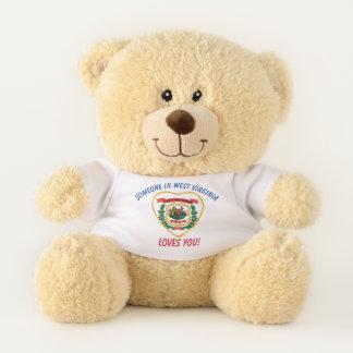West Virginia Loves You Teddy Bear