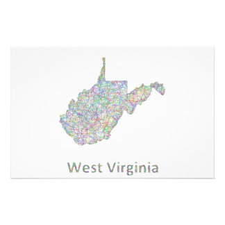 West Virginia map 14 Cm X 21.5 Cm Flyer