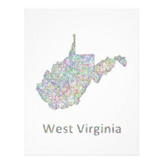 West Virginia map 21.5 Cm X 28 Cm Flyer