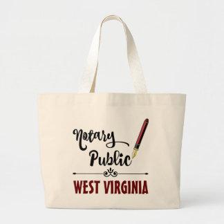 West Virginia Notary Public Ink Pen Jumbo Tote Bag