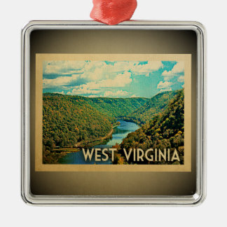 West Virginia Ornament Vintage Travel