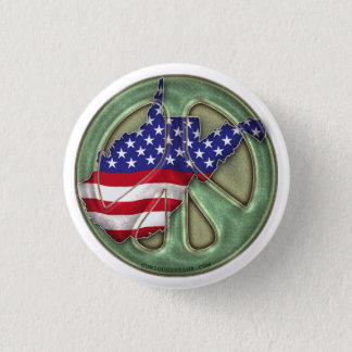 West Virginia Peace State - Button