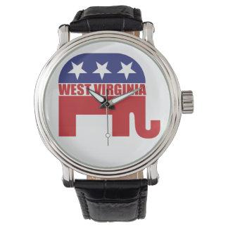 West Virginia Republican Elephant Wrist Watches