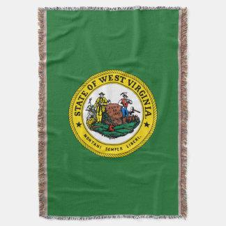 West Virginia seal, American state seal Throw Blanket