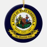 West Virginia Seal Christmas Ornament