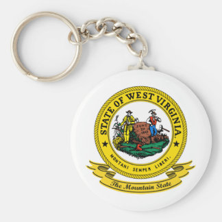 West Virginia Seal Key Ring