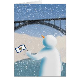 West Virginia Snowman Card