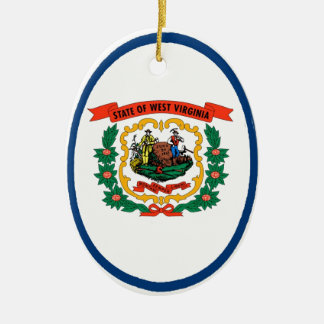 West Virginia State Flag Christmas Ornament