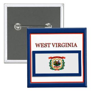 West Virginia State Flag Design Button