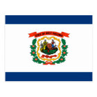 West Virginia State Flag Design Postcard