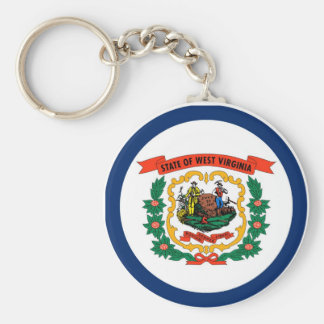 West Virginia State Flag Key Ring