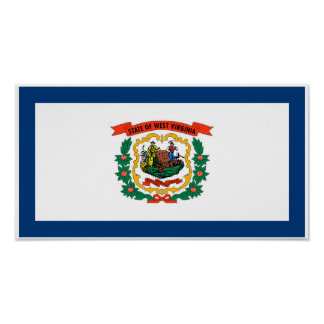 West Virginia State Flag Poster