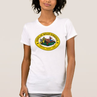 West Virginia state flag seal united america count Shirts