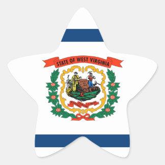 West Virginia State Flag Star Sticker