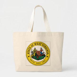 West Virginia State Seal Tote Bags