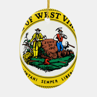 West Virginia State Seal Christmas Ornament