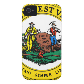 West Virginia state seal.jpg iPhone 4 Case-Mate Case