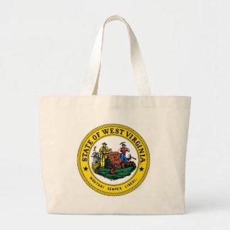 West Virginia state seal.jpg Large Tote Bag