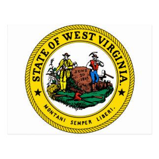 West Virginia state seal.jpg Postcard