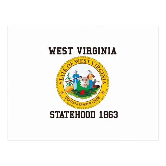 West Virginia Statehood 1863 Postcard