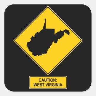 West Virginia Square Sticker
