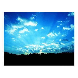 West Virginia Sunrise Blue Postcard