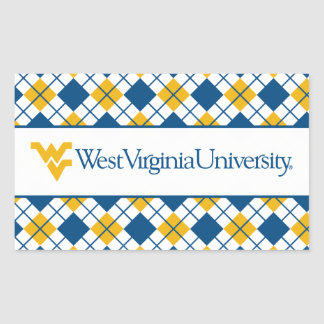 West Virginia University Rectangle Stickers