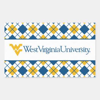 West Virginia University Rectangle Stickers