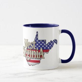 West Virginia USA Flag Mug
