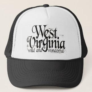 West Virginia W&W_Black Trucker Hat