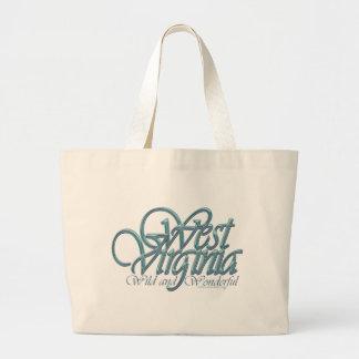 West Virginia-wild and wonderful_4 Large Tote Bag