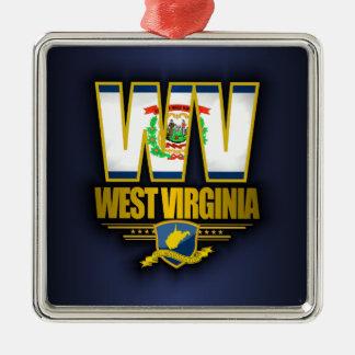 West Virginia (WV) Christmas Ornament