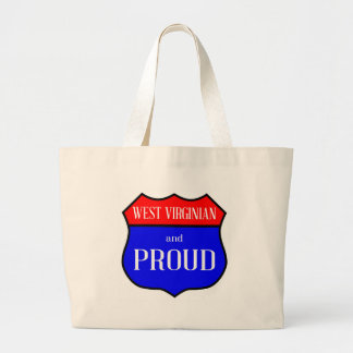 West Virginian And Proud Large Tote Bag
