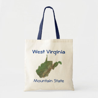 West Virginian Map Bag