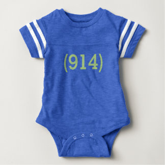 Westchester 914 blue football infant bodysuit