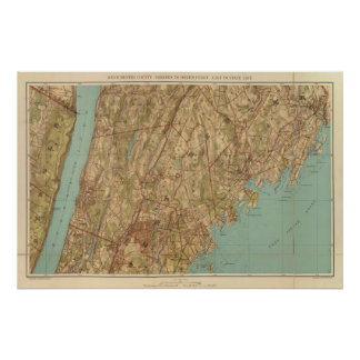 Westchester Co, Yonkersstate line Poster