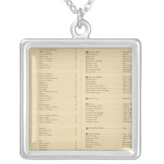 Westchester County, New York 4 Silver Plated Necklace