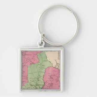 Westchester, NY Silver-Colored Square Key Ring