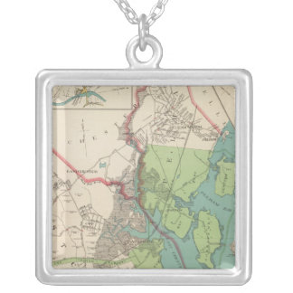 Westchester, Pelham towns Silver Plated Necklace