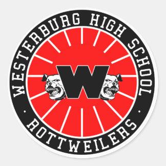 Westerburg High School Rottweilers Classic Round Sticker
