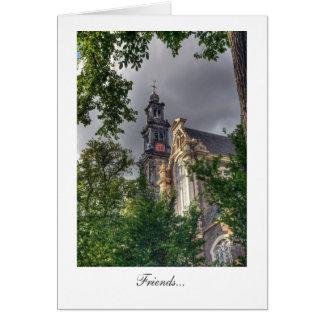 Westerkerk, Amsterdam Church - Friends Greeting Card