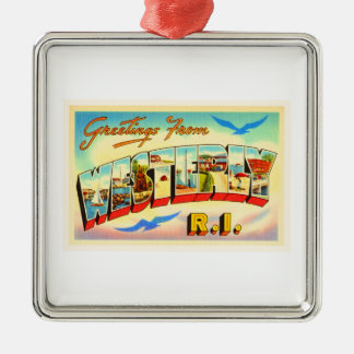 Westerly Rhode Island RI Vintage Travel Souvenir Christmas Ornament
