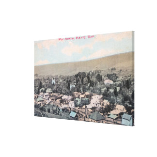 Western Aerial of Town Canvas Print