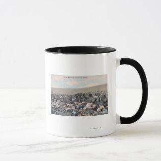 Western Aerial of Town Mug