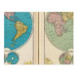 Western and Eastern Hemisphere Postcard