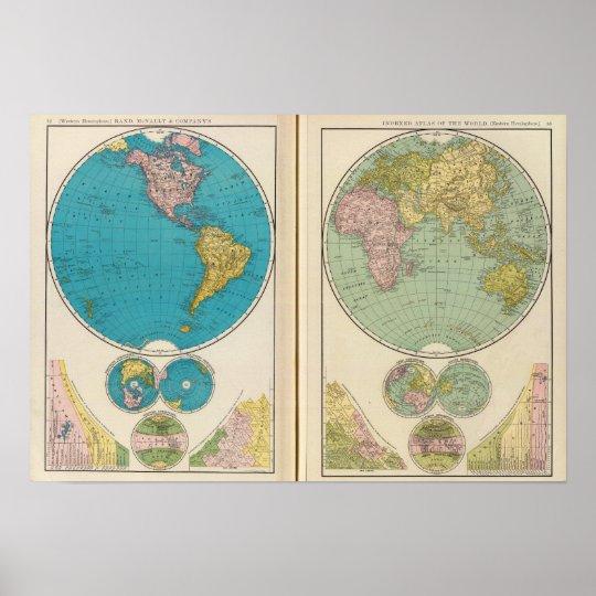 Western and Eastern Hemisphere Poster