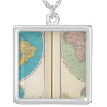 Western and Eastern Hemisphere Silver Plated Necklace
