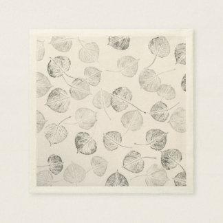 Western Aspen Leaf Prints Disposable Napkins