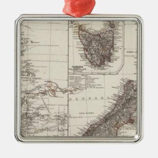 Western Australia Tasmania and New Zealand Christmas Ornament