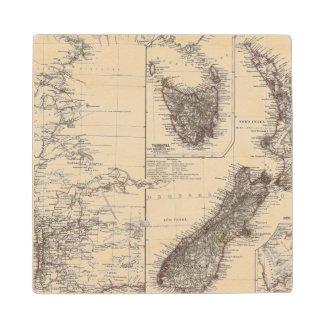Western Australia Tasmania and New Zealand Wood Coaster